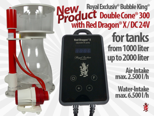 Royal Exclusiv Bubble King Double Cone 300 with Red Dragon X 24V