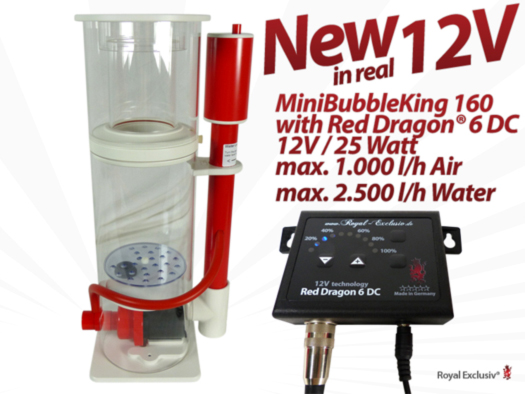 Royal Exclusiv Mini Bubble King 160 with Red Dragon 6 DC 12V internal skimmer