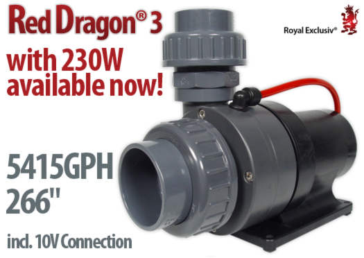 Royal Exclusiv Red Dragon 3 pump with 230W