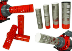 Slot pipes / split tubes / protection for delivery pumps